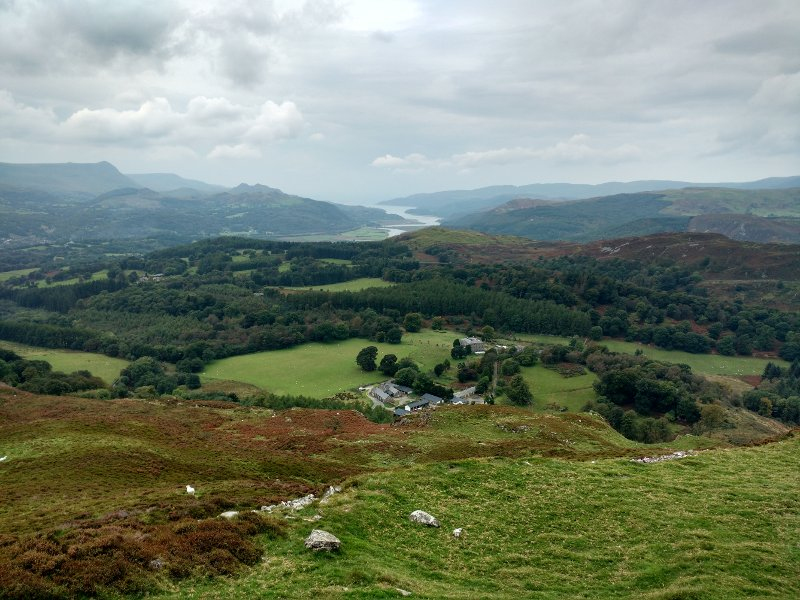 View from the summit towards the Mawddach estuary.