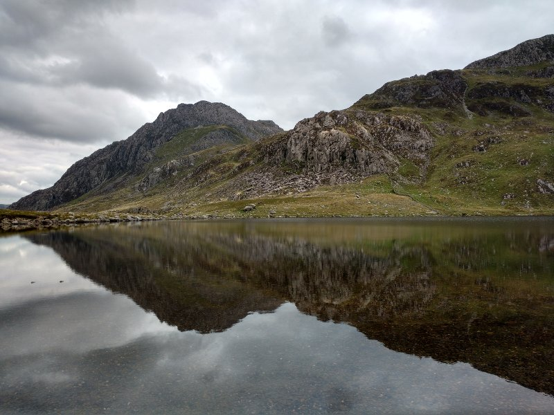 A lovely view of Tryfan reflected in the lake.