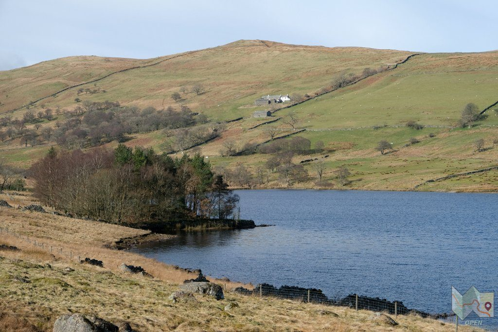 A view across the reservoir to Sleddale Hall